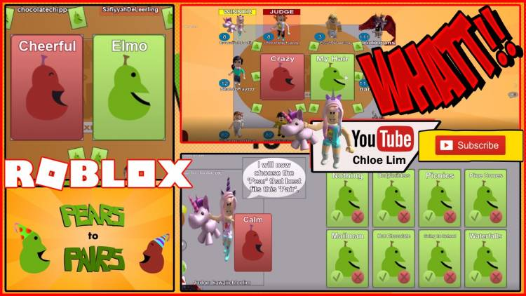 Roblox PEARS to PAIRS Card Game Gamelog - May 3 2018