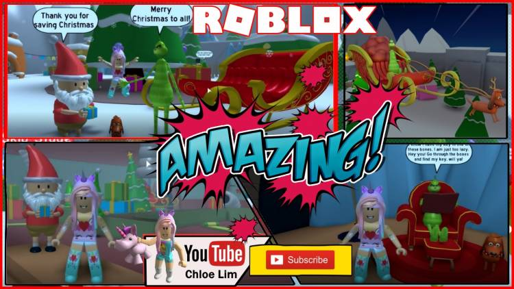 Roblox The Grinch Obby Gamelog - December 3 2018