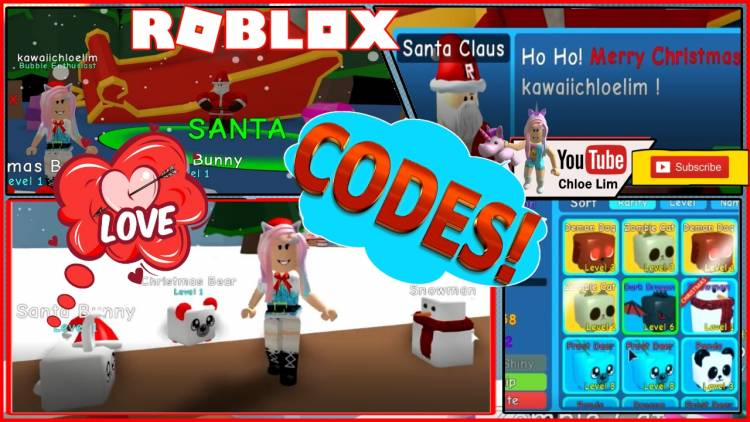 Roblox Gameplay - Bubble Gum Simulator! Codes! I MET SANTA and Phew I was not on his Naughty List!