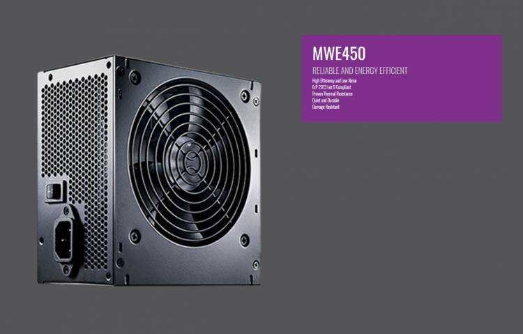 Cooler Master MWE 450 Watt 80+ 230v Eu UK Power Supply