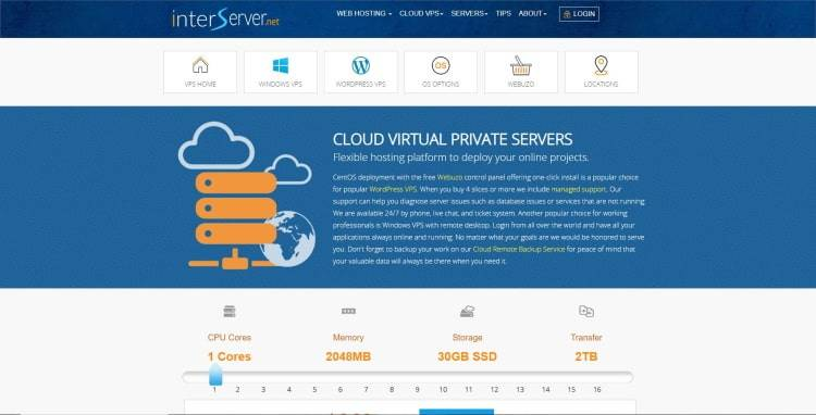 Cloud VPS Hosting Budget Windows and Linux by InterServer
