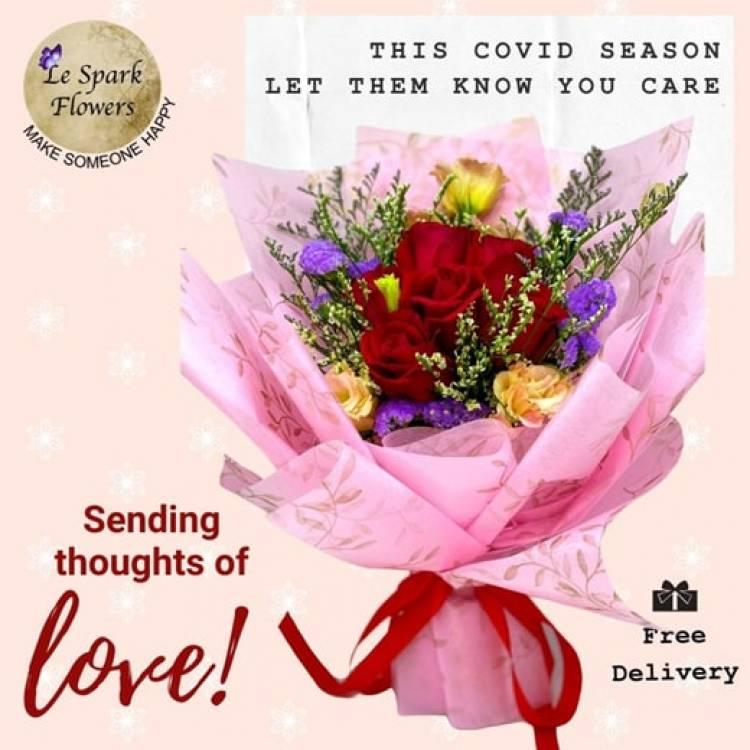Rose Carnation Gerbera Sunflower Flower Bouquet