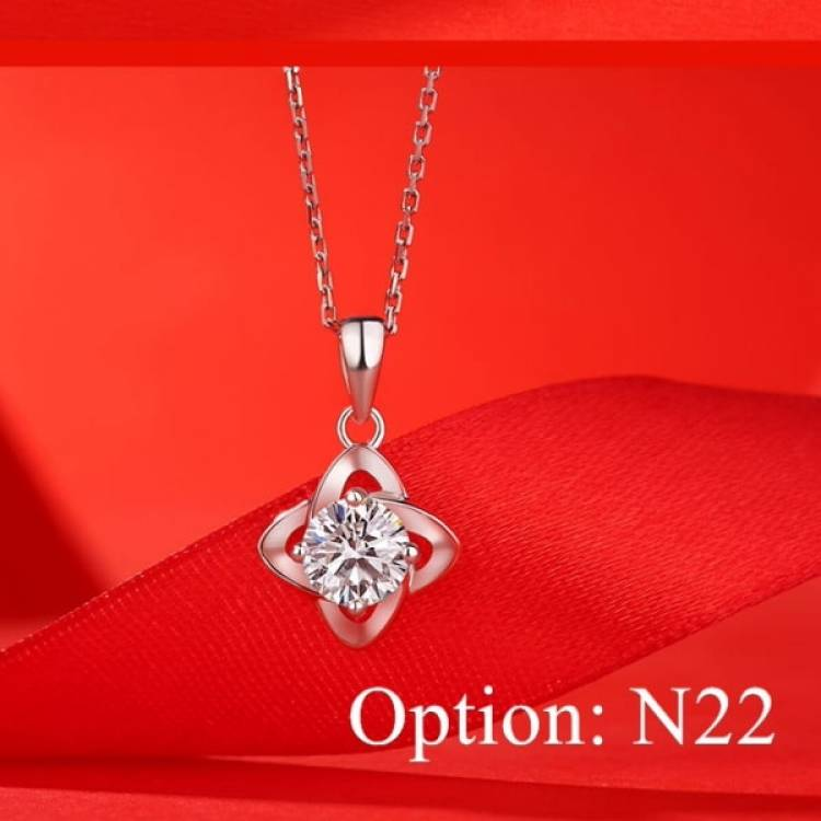 Moissanite celtic design Diamond Pendant Necklace Jewelry