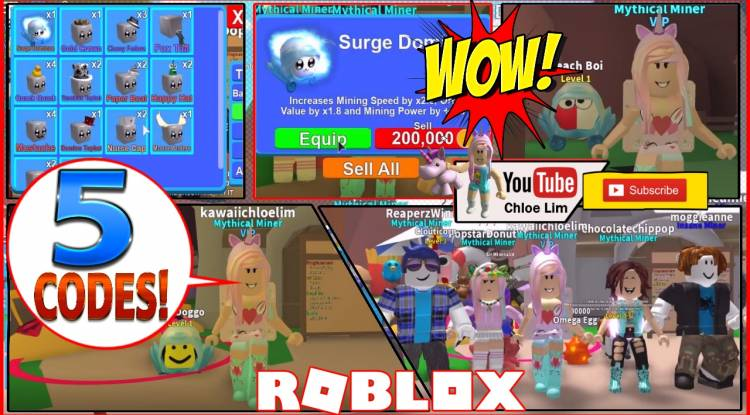 Roblox Mining Simulator Gamelog - August 18 2018