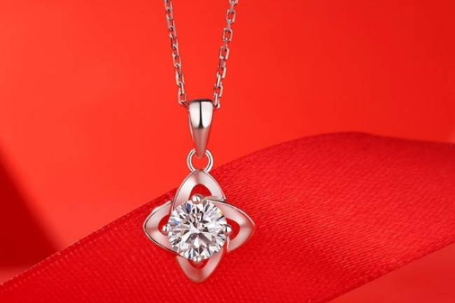 Moissanite celtic design Diamond Pendant Necklace Jewelry
